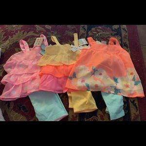 Baby girls 6-9 months summer outfits lot